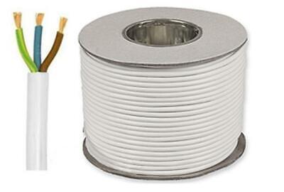 Core 1mm² x 50m White Resistant Flexible Cable 3093Y 3 Time Heat