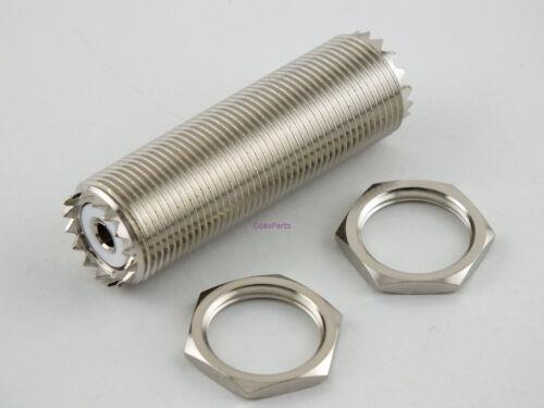 "USA Coax Parts UHF Female to UHF Female 2/"" Bulkhead Adapter Connector"