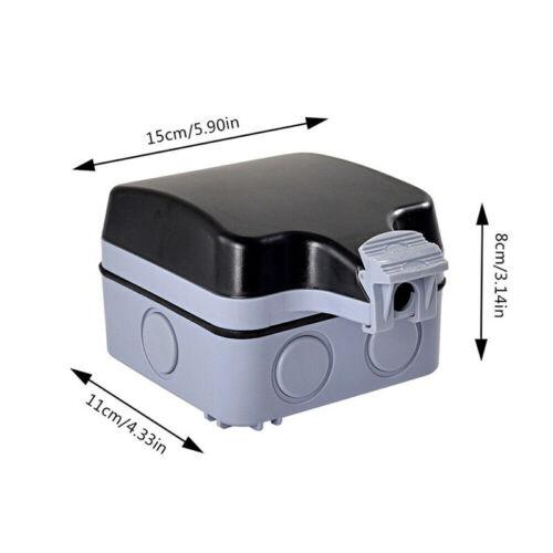 Wandsteckdose Für Den Außenbereich Wasserdicht staubdicht Doppelt Steckdose IP66