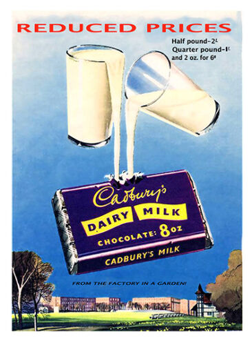 Old Advertising Poster reproduction Cadburys Chocolate