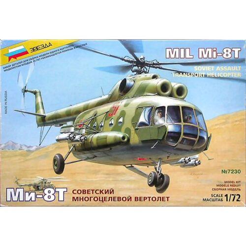 Zvezda 7230 Mil Mi8T Soviet Assault Helicopter 1//72 scale plastic model kit