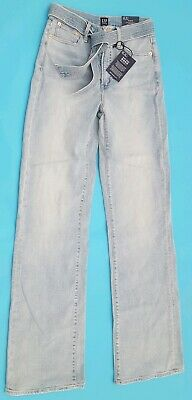 Womens Gap 1969 Faded Blue High Rise Trouser Stretch Slim Wide Leg Jeans 36t Ideal Gift For All Occasions