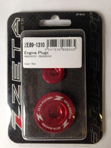 SUZUKI    RMZ450  RMZ 450  RM450Z  2005-2018  ZETA ENGINE PLUGS  RED