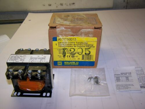 NEW SQUARE D 0.05 KVA TRANSFORMER 120 HV 12//24 LV 9070T50D13