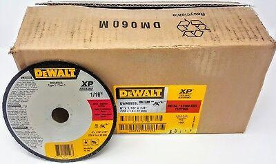 "100-pack Dewalt DWA8953L 6/""x1//16/""x7//8/"" Type 1 Metal Stainless Cutting Wheel"