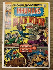 Amazing-Adventures-2-Marvel-Comic-Inhumans-amp-Black-Widow-FN