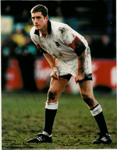 WILL GREENWOOD ENGLAND 10 x 8 SIGNED RUGBY PHOTO