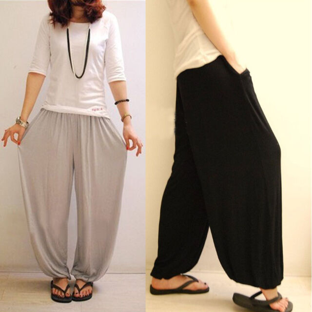 Fashion Womens Girls Loose Wide Leg Bloomers Casual Yoga Sport Pants Trousers