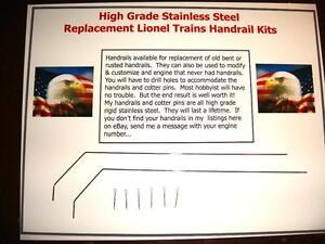 Handrails-Lionel-2026-2029-2037-224E-225E-1666-1664-amp-More-W-Pins