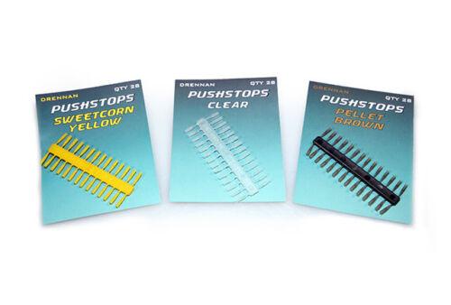 Clear /& Pellet Baitstops Match Coarse Feeder Fishing Drennan Pushstops Yellow