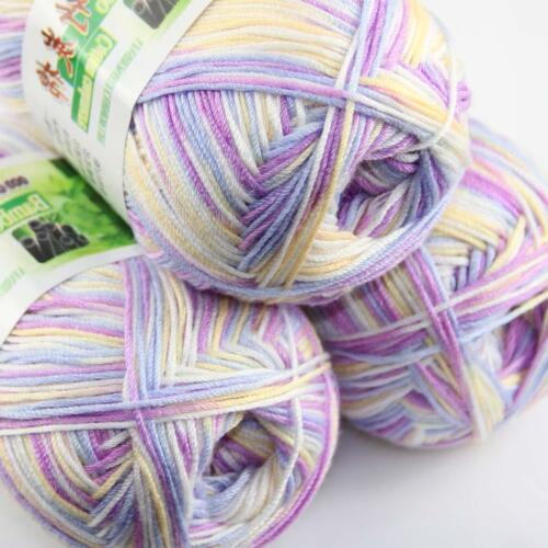 Vente Nouveau 3 skeinsx 50 g Doux Bambou Coton Bébé Hand Knit Châles Crochet Yarn 38