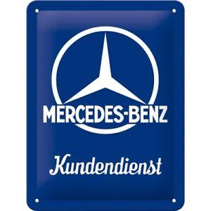 Mercedes Benz Kundendienst Blechschild Schild 3D Tin Sign 15 x 20 cm 26226