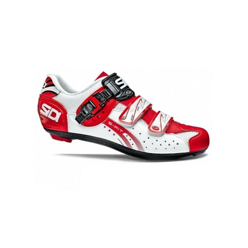 SIDI Genius 5 Fit Road Cycling shoes Bike shoes White Red Size 36-46 EUR