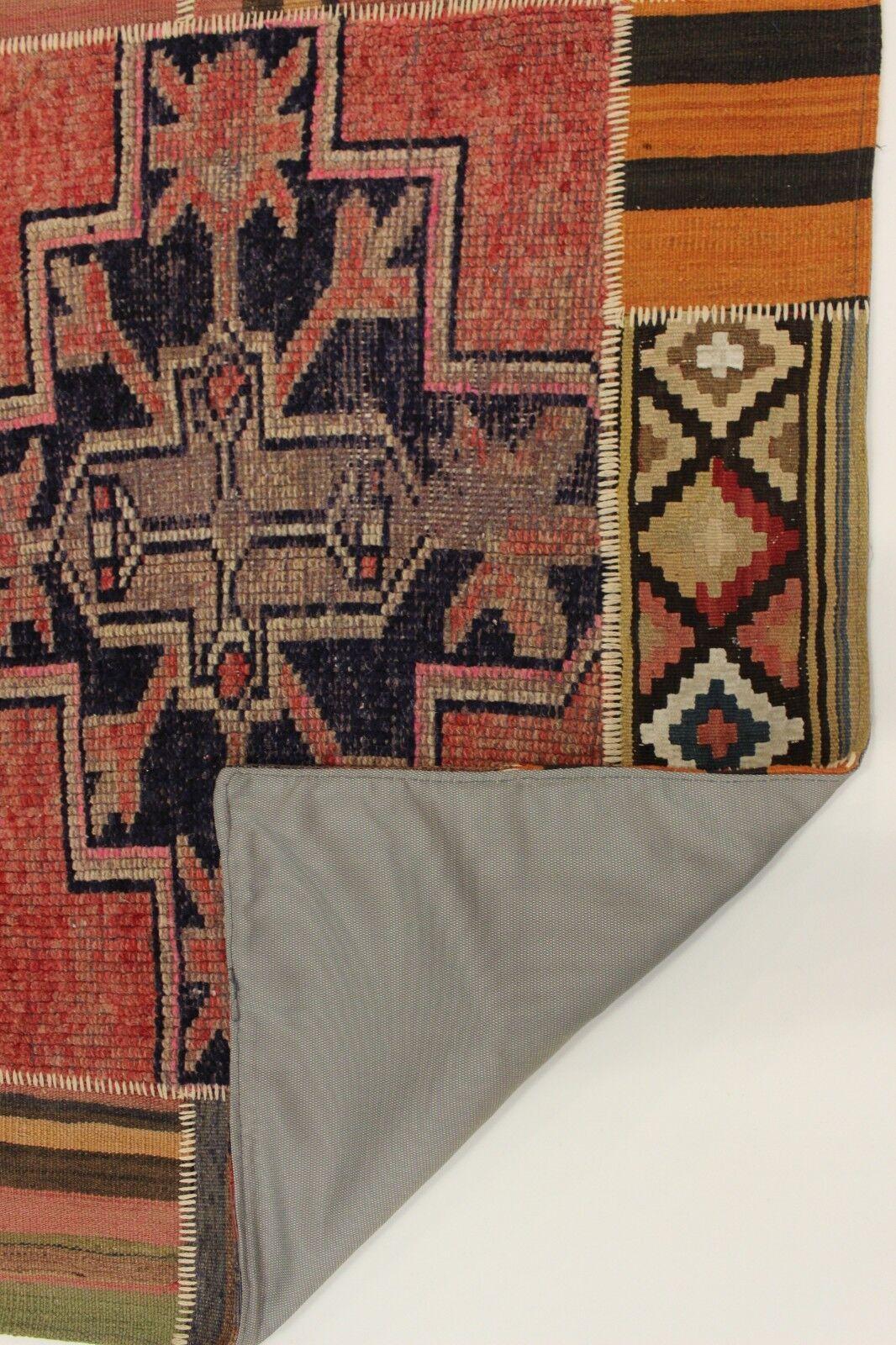 Nomades Patchwork Délavé Look Antique Antique Antique Tapis de Perse Tapis D'Orient 1,78 X 1,35 417ab4