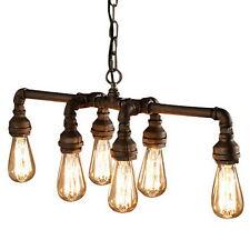 Pendant Vintage Industrial Vintage 6 Heads Water  Pipe Ceiling Light Fixture@