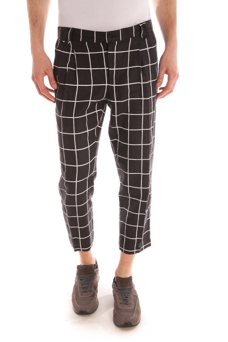 Pantaloni Daniele Alessandrini Jeans Trouser men black P3100S18103501 1