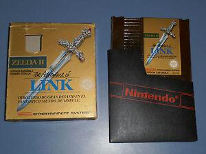 Zelda-II-The-Adventure-of-Link-Pal-Espana-Caja-Pequena-Nintendo-Nes