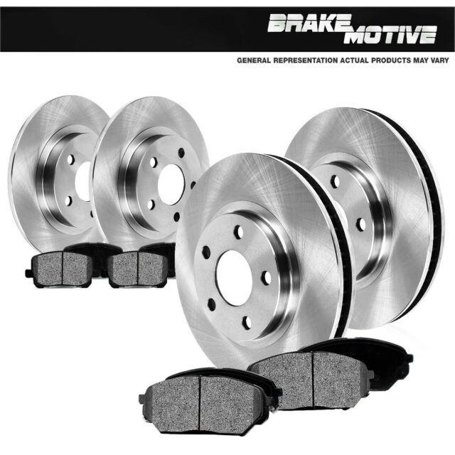 2002 2003 2004 for Buick Rendezvous FWD Disc Brake Rotors and Ceramic Pads Front