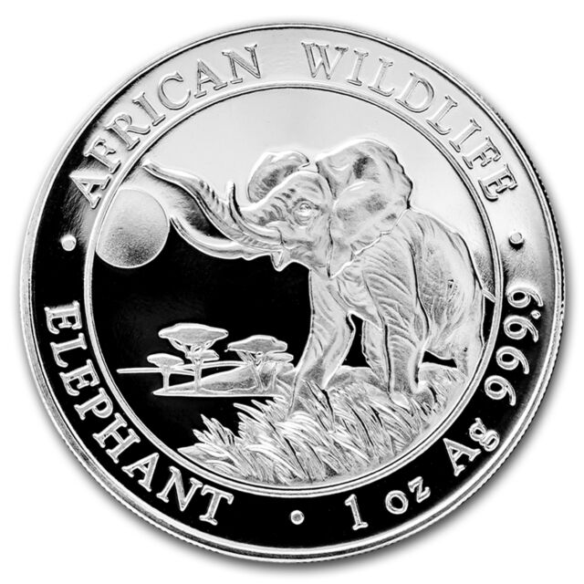 2016 Somalia 1 oz Silver Elephant BU - SKU #92390