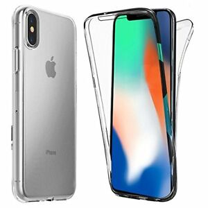 half off 3b9d7 840cf Details about UK Front and Back Clear 360° Full protection Gel Cover Skin  Case For iPhone XR