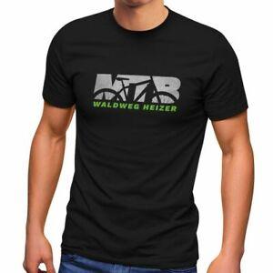 Herren-T-Shirt-MTB-Downhill-Mountainbike-Spruch-Waldweg-Heizer-Fun-Shirt