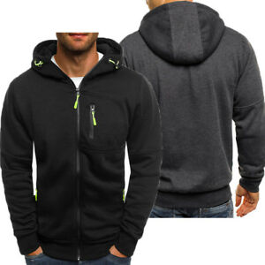 Men-039-s-Athletic-Warm-Soft-Sherpa-Lined-Fleece-Zip-Up-Sweater-Jacket-Hoodie