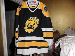 factory price 1cc77 84188 Details about Vintage Colosseum California Bears Throwback Hockey Starter  Jersey Large