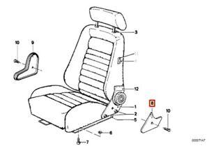 Genuine-BMW-3-5-6-7-E21-E12-E28-Recaro-Seat-Adjusting-Wheel-Right-Lower-Covering
