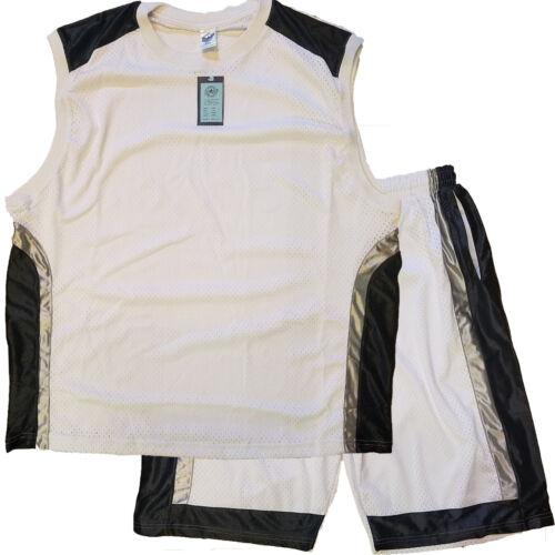 2pc Set Workout Gym Pockets Lined Shorts Mens Mesh Basketball Shorts and Shirt