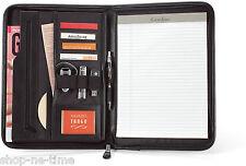 Gemline Global Executive Black Leather Padfolio w/ Pocket for Tablets - New