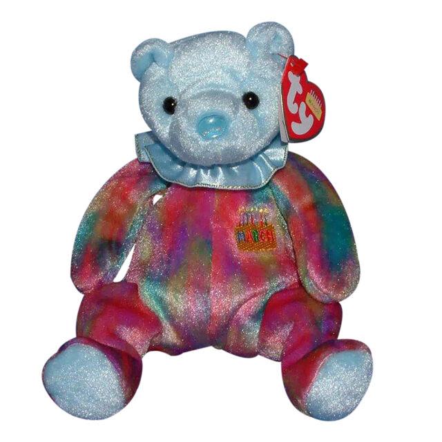 5a4a9147d58 Aquamarine March Birthstone Birthday 2001 Ty Beanie Babies 7.5