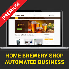 HOME BREWERY STORE -  AUTOMATED AFFILIATE BUSINESS WEBSITE FOR SALE