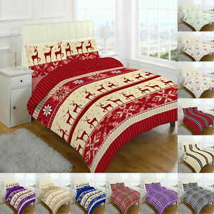 Christmas Sheets King.Details About Thermal Flannelette Sheet Set Fitted Flat Single Double King Size New Christmas