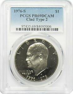 1972-S Silver Eisenhower Dollar PCGS PR69DCAM A Top Ike $1 Source In The USA!