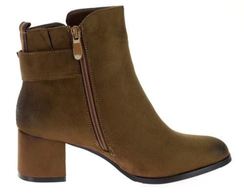 Damen Stiefeletten Winterschuhe Stiefel Warm gefütterte Schuhe Boots Booty 18730