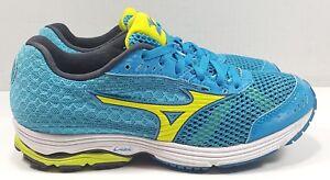 reputable site 5eeba 1a706 Image is loading Mizuno-Wave-Sayonara-3-Blue-Athletic-Training-Sneakers-