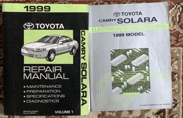 Toyota Service Repair Manual Camry Solara Vol 1 Electrical ...