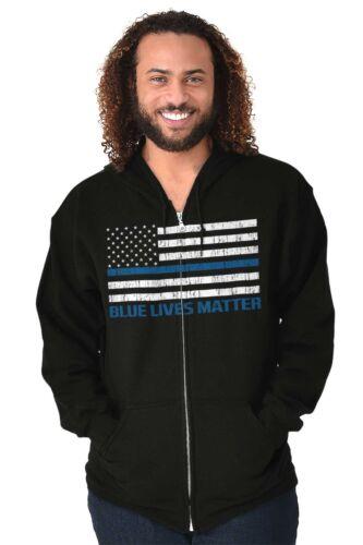Blue Lives Matter USA ShirtAmerican Police Badge Hero Gun Zip Hoodie
