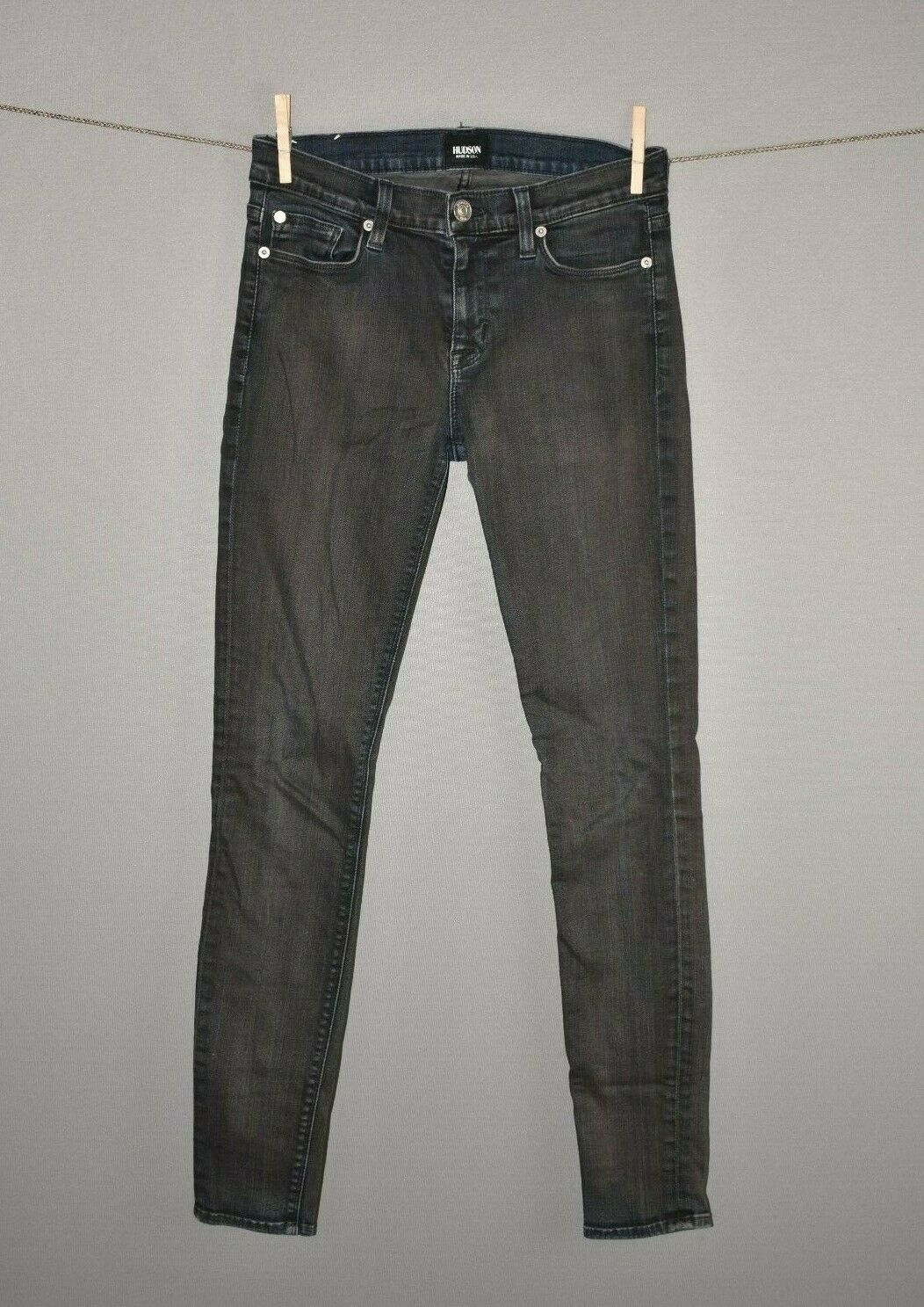 HUDSON JEANS  Nico Super Skinny Mid Rise Jean Ash Brown Size 26