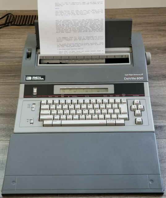 Smith Corona Spell Right Dictionary Deville 800 Word