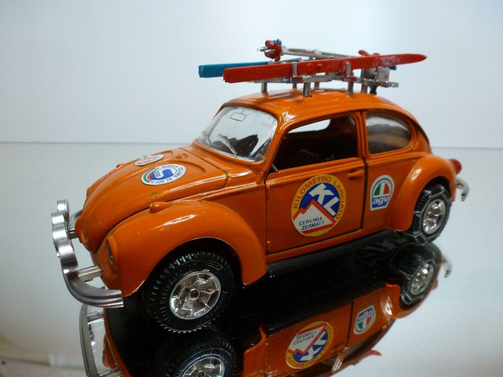 MEBETOYS 8615 VW VOLKSWAGEN BEETLE SKI ZERMATT - Orange 1 25 - GOOD CONDITION