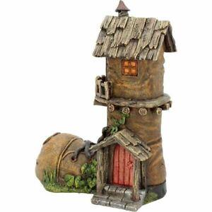 MAGICAL-TREETOP-BOOT-FAIRY-HOUSE-Elf-Pixie-Faerie-Door-Secret-Garden-Ornament