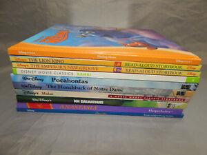 10-large-HARDCOVER-kids-picture-books-DISNEY-MOUSEWORKS-anastasia-bambi-lot