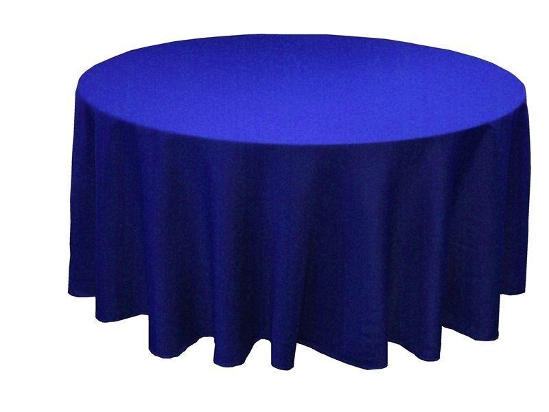 20 Rond Bleu Royal 120 Pouces Polyester Nappes 5 ' Pieds Table Fête