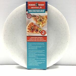 Image is loading Nordic-Ware-2-Microwave-Dinner-Plates-10-Inch- & Nordic Ware 2 Microwave Dinner Plates 10 Inch Cookware Made In USA ...