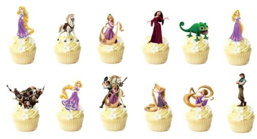 14 Tangled Rapunzel Stand Up Comestible Cupcake Topper Oblea Comestible Decoraciones
