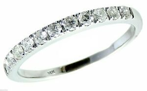 0.24 Carat Wedding Ring Band Classic 14k White Gold Engagement Anniversary Guard