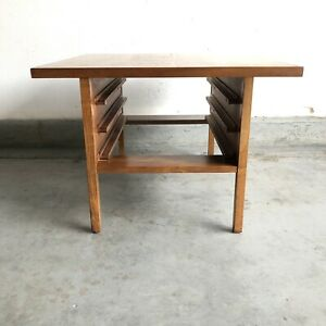 Mid-Century-Modern-Brown-Saltman-John-Keal-Coffee-Table-For-Folding-Tray-Vintage