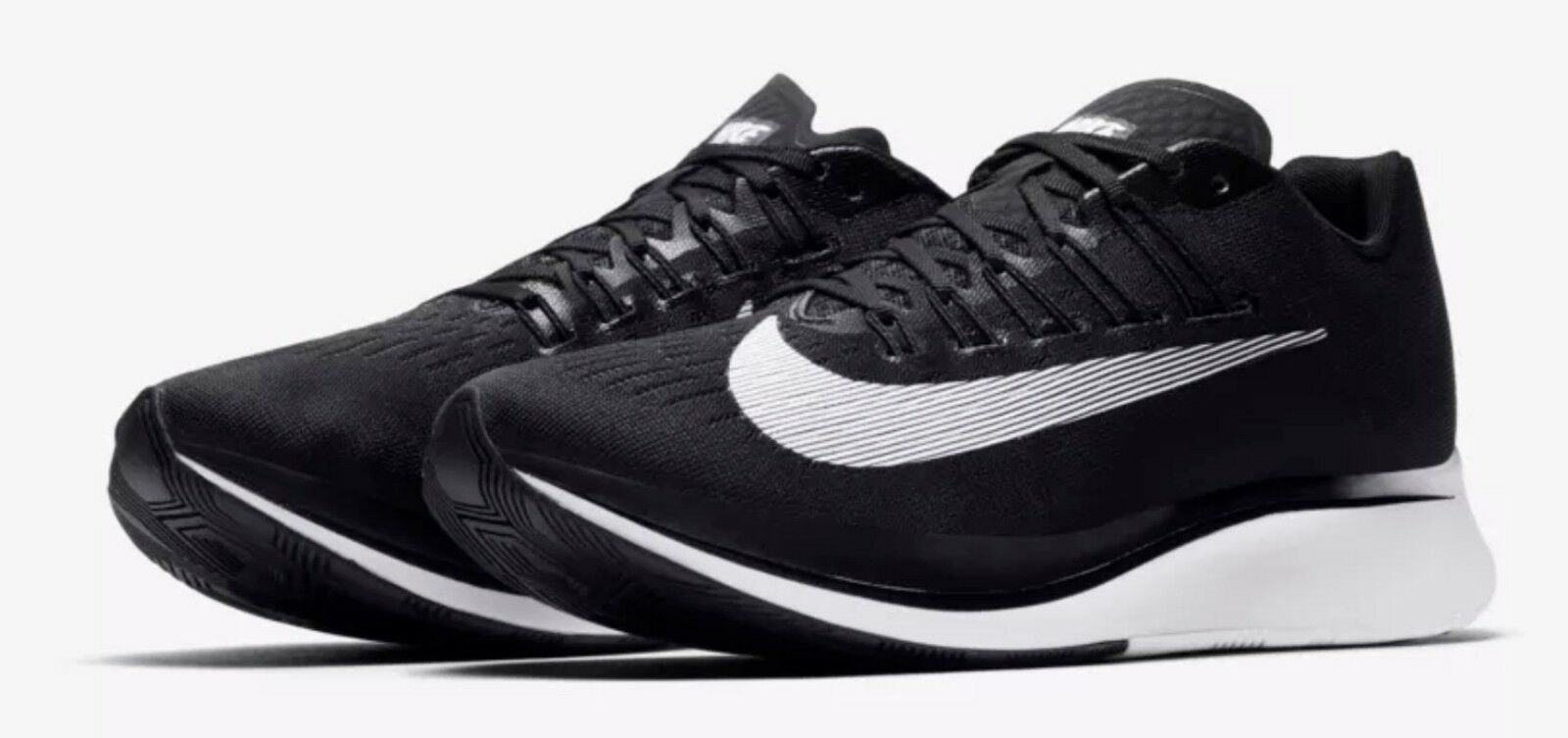 Nike Uomo Dimensione 8.5 Zoom Zoom Zoom Fly Running scarpe nero bianca Anthracite 880848 001 New 5d06eb