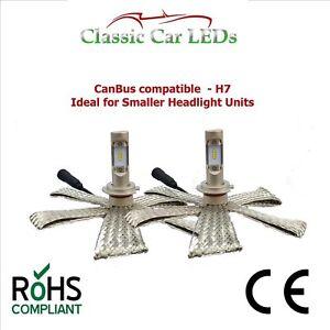 2x-Compact-CANBUS-z-es-LED-LAMPADINE-FARO-ANTERIORE-H7-477-4600-lumen